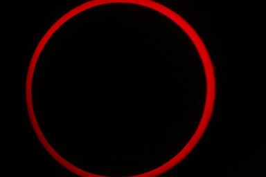 2012 Annular Solar Eclipse Taken at Kanarraville, UT by professor Brent Sorensen