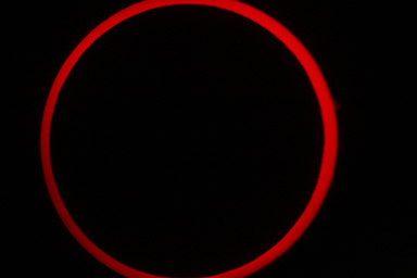 2012 Annular Solar Eclipse Taken at Kanarraville, UT by professor Brent Sorensen