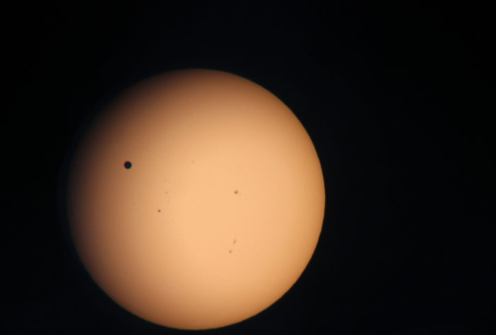 Photo of the Venus Transit of 2012 taken by Brent Sorensen
