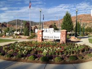 Veteran's Park on 200 N. 200 E.