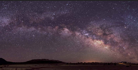 Milky Way long exposure over desert