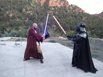 A lone Jedi vs. Darth Vader